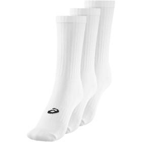 asics Crew Socks 3 Pack White